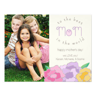 Precious Florals Happy Mother s Day Photo Card