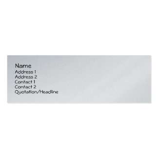 Precious Foal Skinny Profile Card Double-Sided Mini Business Cards (Pack Of 20)