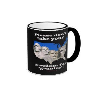 Precious Freedom Ringer Coffee Mug