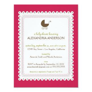 Precious Fuchsia Custom Baby Shower Invitation