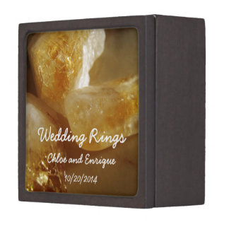 Precious Gemstones Photo Wedding Ring Box
