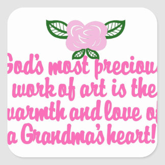 Precious Grandma Square Sticker