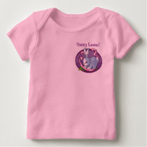 Precious Happy Easter Bunny with Ribbon Design Baby T-Shirt