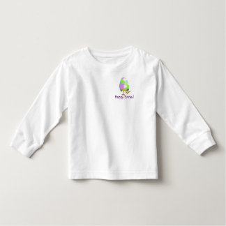 Precious Happy Easter Newly Hatched Chick Design Toddler T-shirt
