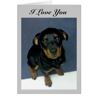 "Precious Heidi Puppy ""I Love You"" Card"