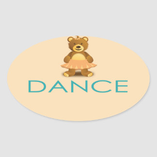 Precious I LOVE Dance Gift- Customizable Oval Sticker