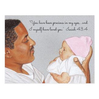 Precious in my Eyes~Dad & Baby Postcard