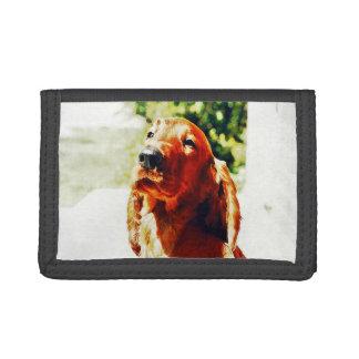 Precious Irish Setter Puppy Tri-fold Wallet