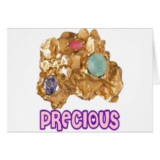 PRECIOUS - Jeweled Gold Nugget Card