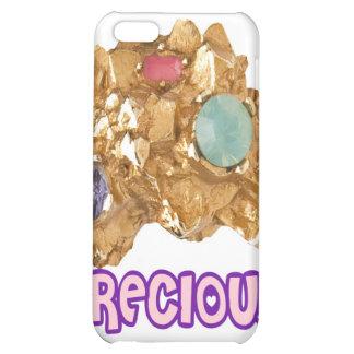 PRECIOUS - Jeweled Gold Nugget Case For iPhone 5C