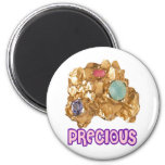 PRECIOUS - Jeweled Gold Nugget Refrigerator Magnets