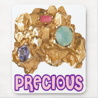 PRECIOUS - Jeweled Gold Nugget Mouse Pad