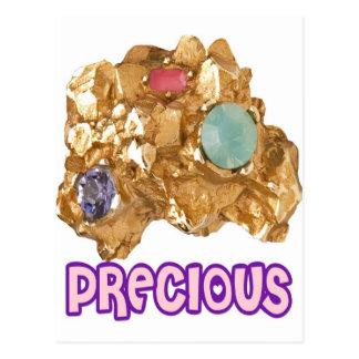PRECIOUS - Jeweled Gold Nugget Postcard