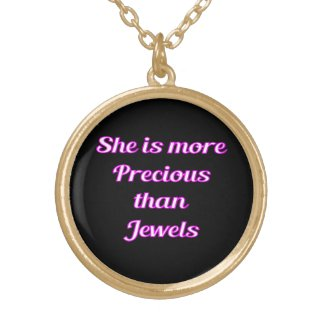Precious Jewels Gold Finish Necklace