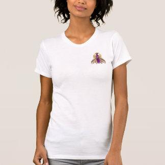 PRECIOUS JEWELS Pearl Gold Amethyst Wasp Brooch T-Shirt