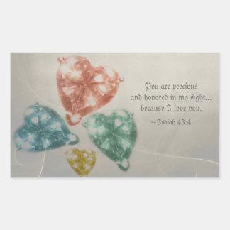Precious Jewels Scripture Rectangular Sticker