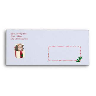 Precious Kitten Christmas Wishes Envelope