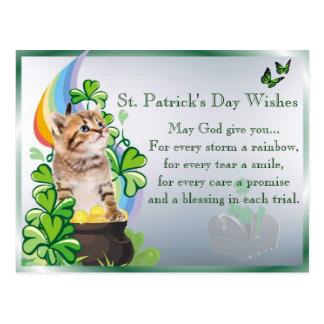 Precious Kitten St Patrick's Day - You've Got Mail Postcard