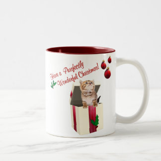 Precious Kitten Wishes For Wonderful Christmas Coffee Mugs