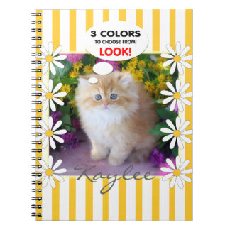 Precious Kittens Fluffy Cats Notebook