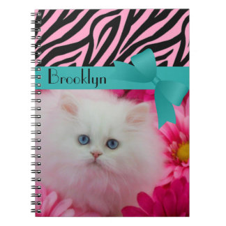 Precious Kittens White Cats Cute Pets Notebook