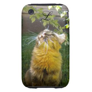Precious Kitty Monogram iPhone 3 case