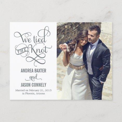 Precious Knot Wedding Announcement - White