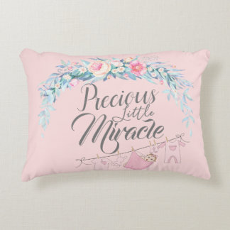 Precious Little Miracle Pink Accent Pillow