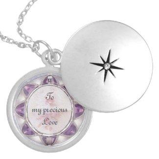 Precious Love Silver Necklace zazzle_necklace
