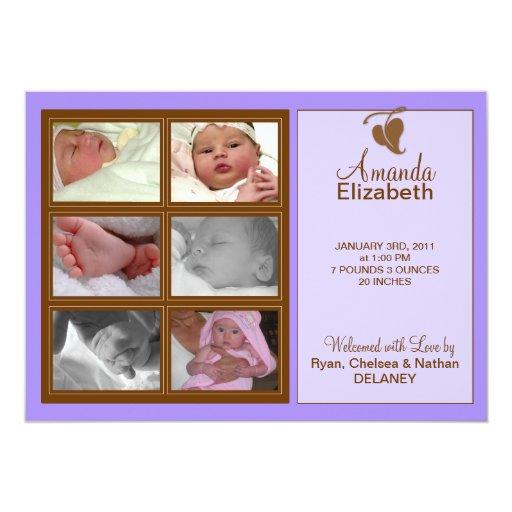 Precious Moments Birth Announcement