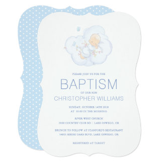 Precious Moments | Boy - Baptism Card