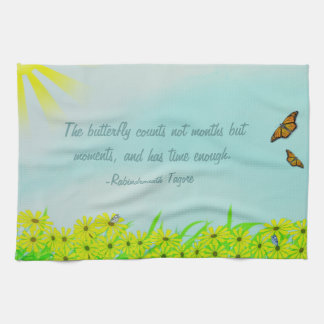 Precious Moments Butterflies Quote Kitchen Towels