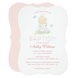 Precious Moments | Girl - Baptism Card