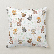 Precious Moments | Woodland Baby Pattern Throw Pillow