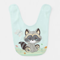 Precious Moments | Woodland Baby Raccoon Baby Bib