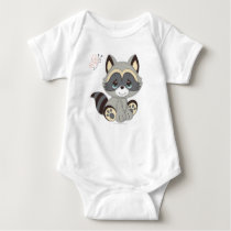 Precious Moments | Woodland Baby Raccoon Baby Bodysuit
