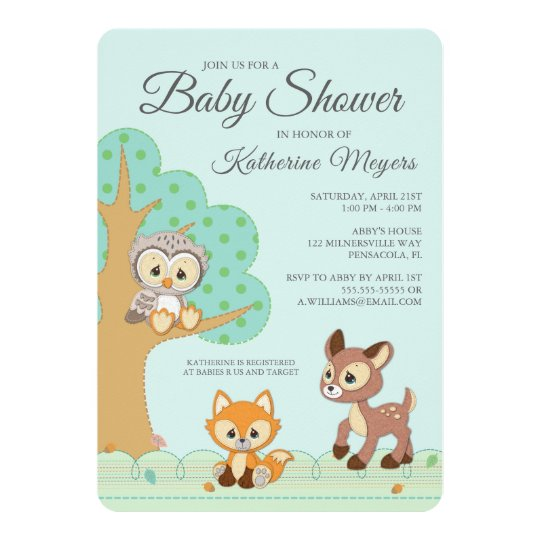 Precious moments woodland baby shower invitation zazzle precious moments woodland baby shower invitation filmwisefo
