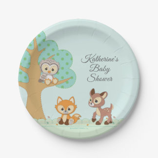Precious Moments   Woodland Baby Shower Paper Plate