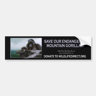 """PRECIOUS"" Mountain Gorillas Bumper Sticker Car Bumper Sticker"