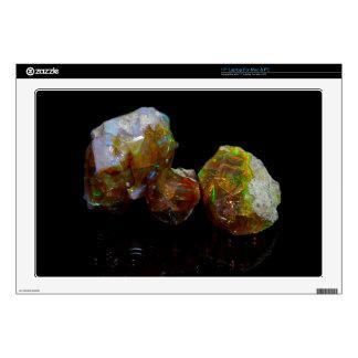 Precious opals laptop skin