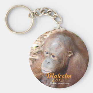 Precious Orphan Malcolm Basic Round Button Keychain