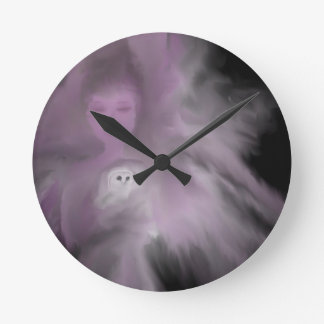 Precious Owl Angel Round Clock