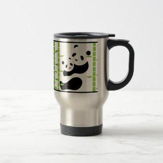 Precious Panda Bears 15 Oz Stainless Steel Travel Mug