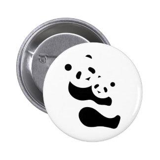 Precious Panda Bears 2 Inch Round Button