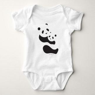 Precious Panda Bears Baby Bodysuit