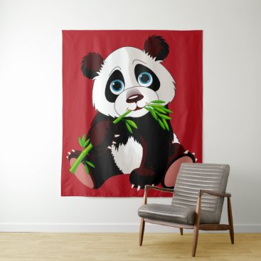 Professional Business Precious Panda Tapestry