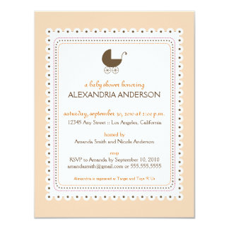 Precious Peach Custom Baby Shower Invitation
