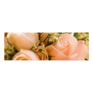 PRECIOUS PEACH ROSE WEDDING FAVOR TAGS Double-Sided MINI BUSINESS CARDS (Pack OF 20)