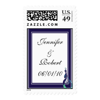 Precious Peacock in Purple, Teal, and Green Stamp
