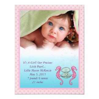 Precious Pearl Baby Girl Announcement